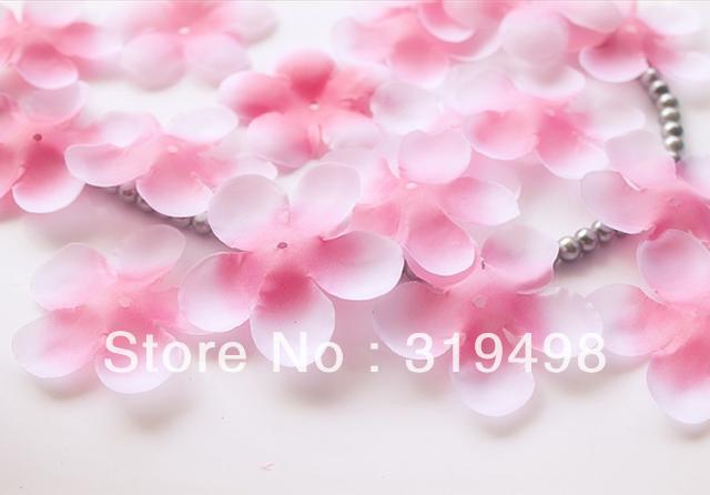 Free shipping (1000pcs/lot)Simulation cherry blossom petals wedding petals rose petals fake artificial flower wedding decor(China (Mainland))