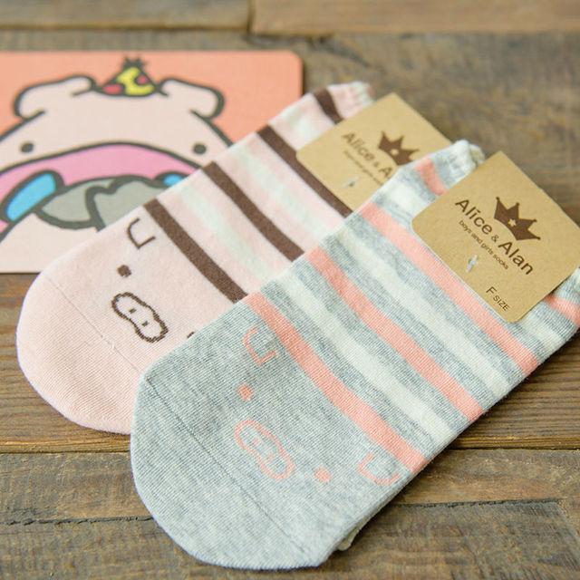 2016 новых корейских каваи розовый поросенок мультфильм лодка носки женские симпатичные животные в трубке носки чистые невидимый не показать носки