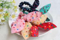 10X Floral Cat Ear Bow Candy Hair Accessories Elastic Headband Hairband Belt Gum for Hair turbantes tiara de cabelo turbante