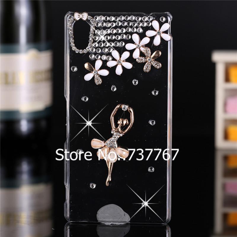 Luxury 3d case For Sony Xperia M4 Aqua ,Crystal Bling Case Rhinestone Cover For Sony Xperia M4 Aqua Dual E2303 E2333 E2353 Case(China (Mainland))