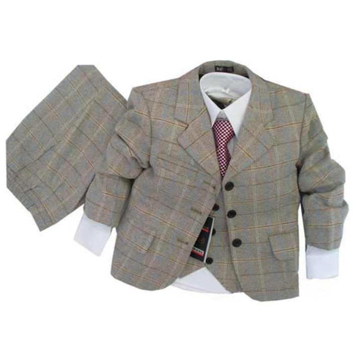 2015 Kids suits Baby Clothing sets Boys Blazer jacket suit Baby boys Brand Formal dress 3 piece Blazers Jackets set Baby clothes(China (Mainland))