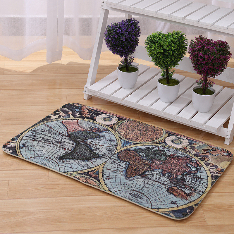 60x90cm Mat Anti-slip Retro Trend Floor and Carpets Living Room Decoration Bedroom Circle Mat Rug Home Supplies Tapete 3 Pieces(China (Mainland))