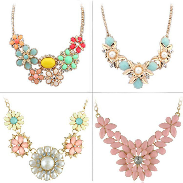New Resin Choker Statement Pendant Necklace for Woman Jewelry Candy Color Necklaces