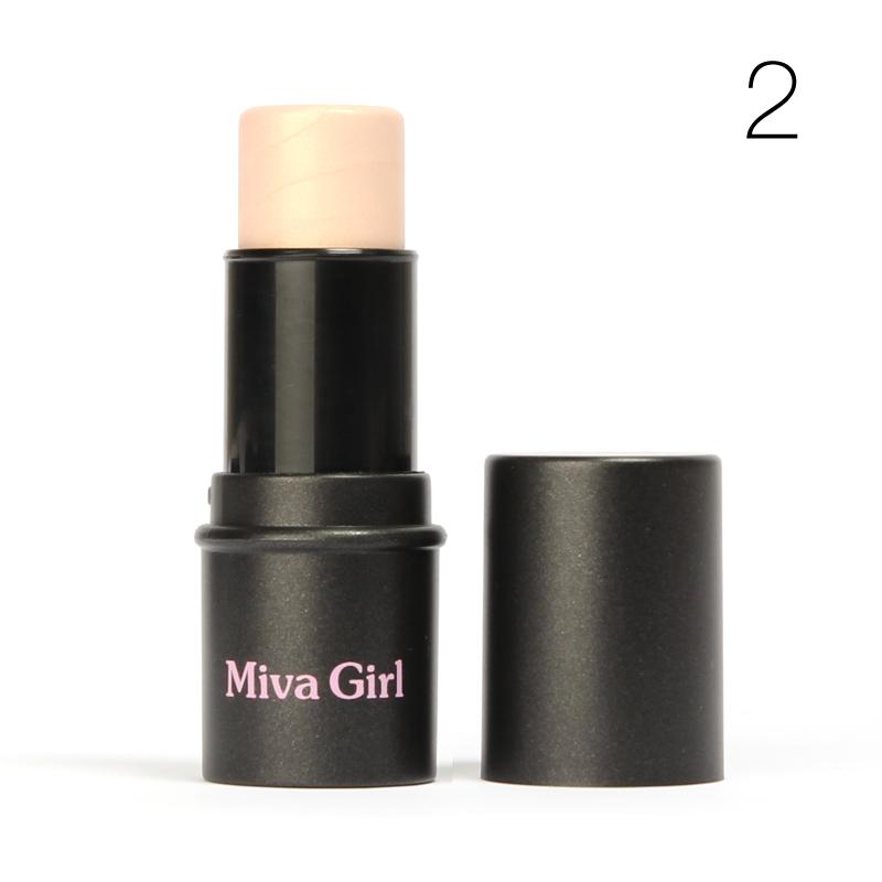 1 Pcs MIVA menina marcador vara Shimmer realce pó facial creme de brozner à prova de água # M19