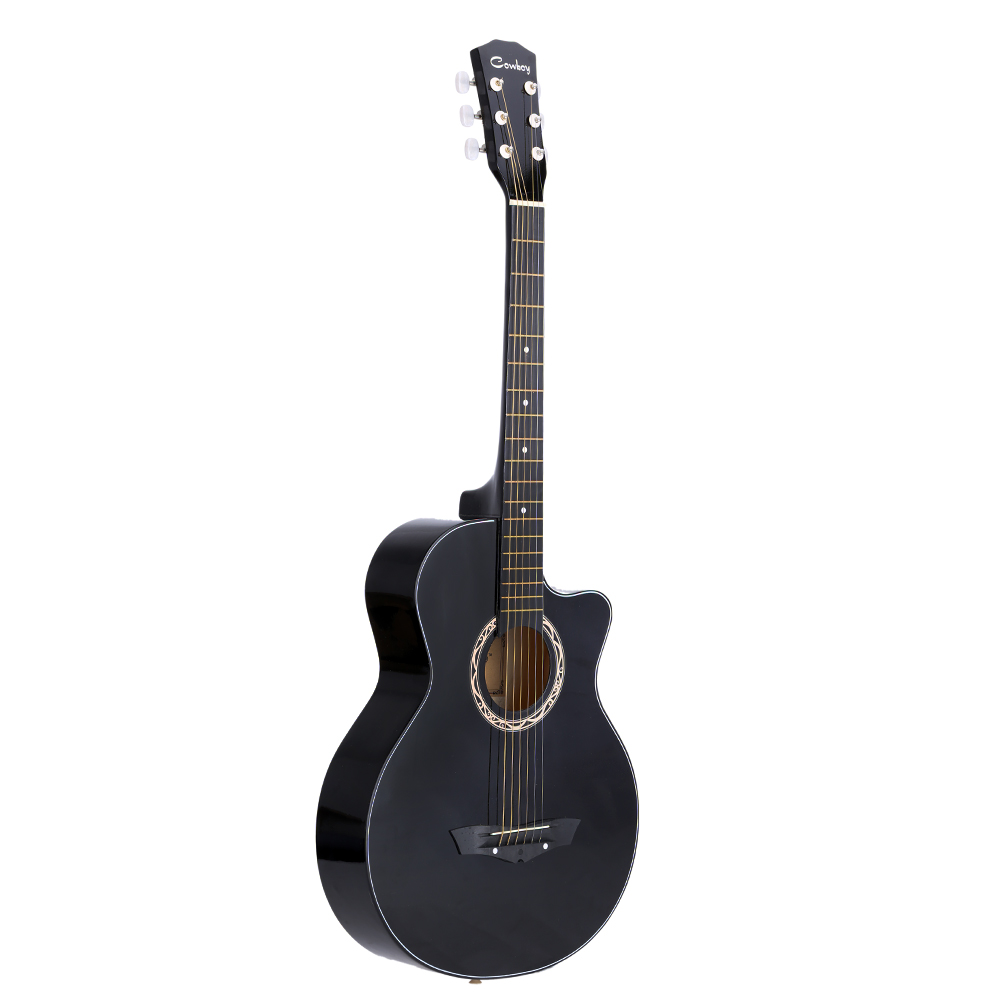 """High Quality 38"""" Acoustic Folk Guitar Durbale 6-String Basswood Guitar for Beginners Students Black Blue Red Purple Optional(China (Mainland))"""
