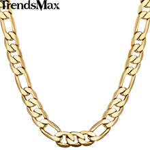Buy Trendsmax 5/6/9/10mm Wide Figaro Link Chain Gold Filled Necklace Men chain Women Necklace Wholesale Jewelry GNM53 for $3.98 in AliExpress store