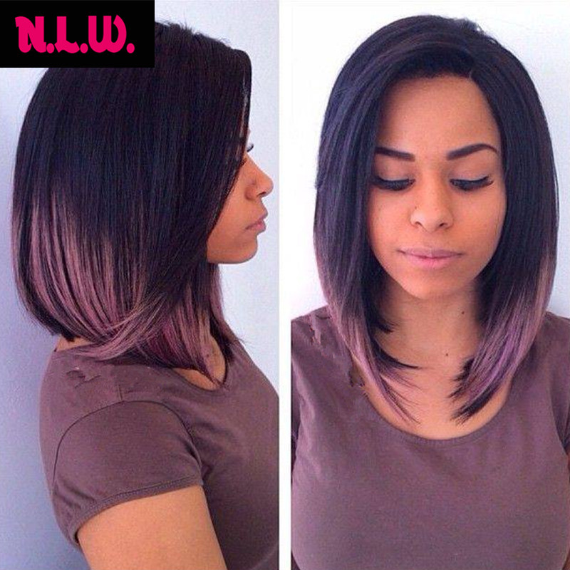 2015 New Bob cut Ombre color Brazilian virgin human hair silk straight Glueless Full lace wigs &amp; Lace front wigs for black women<br><br>Aliexpress