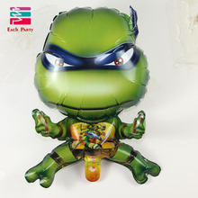 3D Teenage Mutant Ninja Turtles Aluminium Foil Balloons Cartoon Characters Ballons Children Classic Toys Party Decorations(China (Mainland))