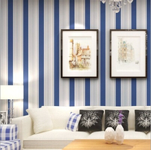Free shipping Mediterranean style 3D striped wallpaper, TV backdrop living room bedroom dining room den wallpaper(China (Mainland))