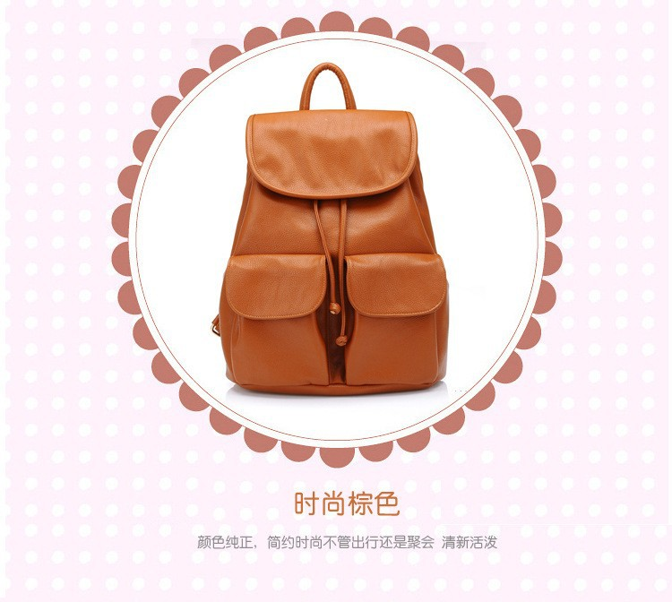 wholesale Women Leather Backpack Mochilas Femininas women travel bags student school Backpack Women Shoulder Bags 2015 new BP2 (7)