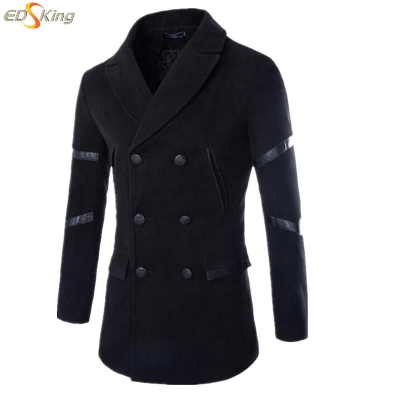 Autumn Winter Men'S Woolen Coat Mens Korean Casual Business Overcoat Chaqueta Militar Hombre Casual Casacos Masculino Homme(China (Mainland))