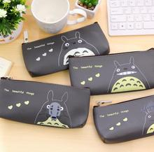 2016 Kawaii Japan TOTORO Leather Coin Purse Cosmetics Purse Bag Wallet School Pencil Bag Pen Case Stationery Promotional Gifts(China (Mainland))