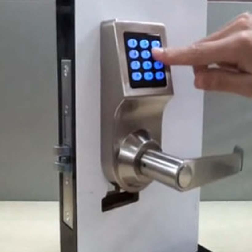 smart keypad digital code induction door lock lock induction card key digital hotel home. Black Bedroom Furniture Sets. Home Design Ideas