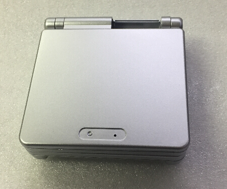 white silver color Full Housing Shell Case Cover Replacement for Nintendo GBA SP Gameboy Advance SP white silver color