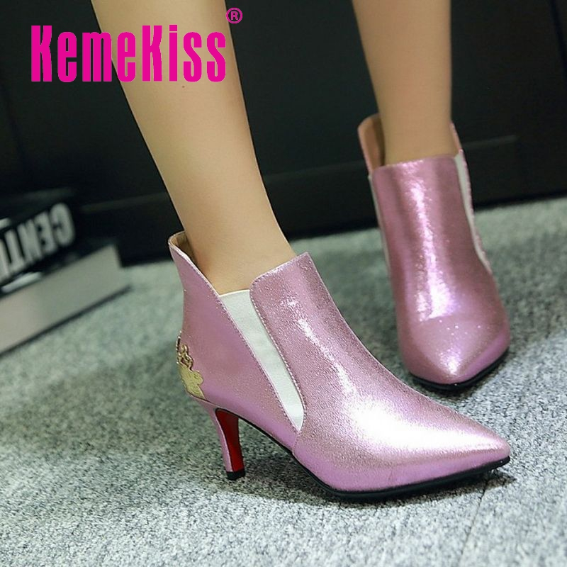 size 32-43 women red bottom high heel ankle boots autumn winter warm sexy wedding boot lady quality heels footwear shoes P21657<br><br>Aliexpress