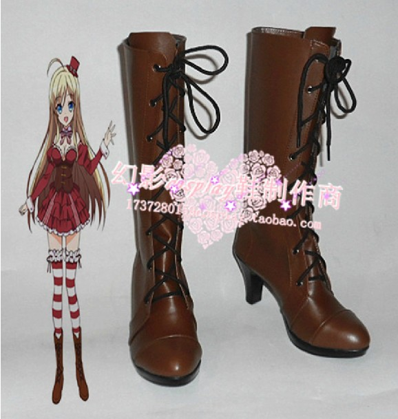 My mental choices are completely interfering with my school romantic comedy Chocolat cosplay shoes(China (Mainland))