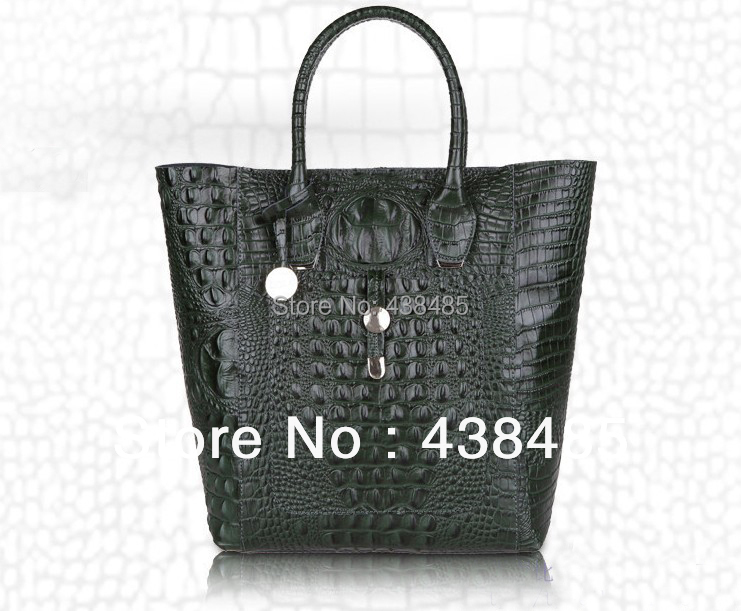 2014 Famous Brand Style Croc Bag 100% Cow Natural Skin Women Genuine Leather Tote Shoulder Handbag Large Shopper Shopping - China Best Supplier store