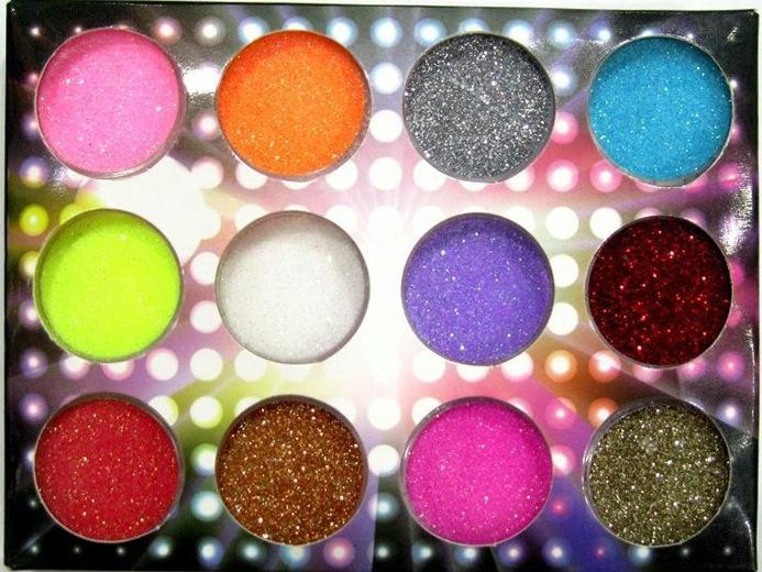 Free shipping 12 Colours nail Acrylic Paerl Powder Dust pigment powder Nail Art Decoration r Wholesale big discount drop ship(China (Mainland))