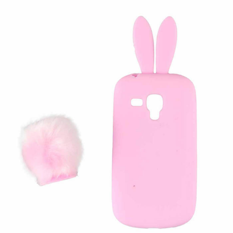 8 Colors Cute Silicon Rabbit Stand Holder Soft Case Cover Skin Samsung Galaxy S3 Mini I8190 Phone Cases Voberry - Shenzhen Technology Co.,Ltd. store