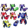 New Arrival Birthday Gift Small Size Cars Transformation Robot Plastic Minifigures Action Figure Toy