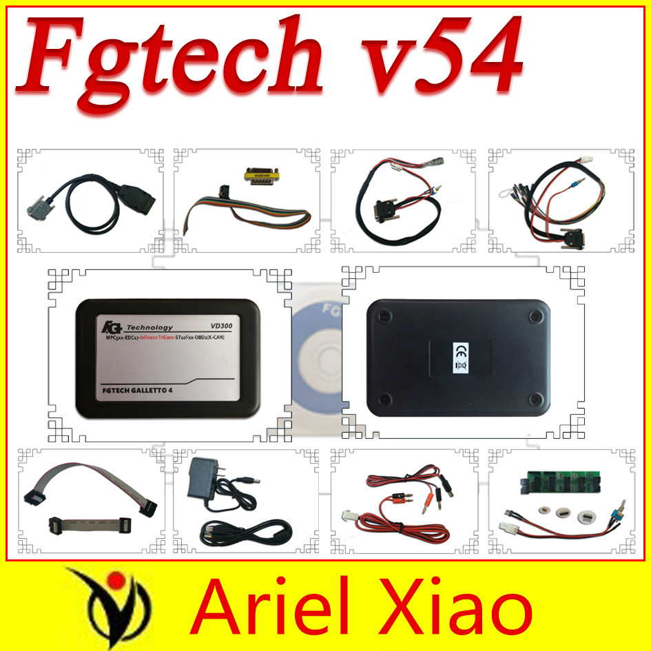 New vd300 V54 fg tech fgtech galletto 4 Master v54 FG Tech no time limited BDM-TriCore-OBD with BDM function free shipping(China (Mainland))