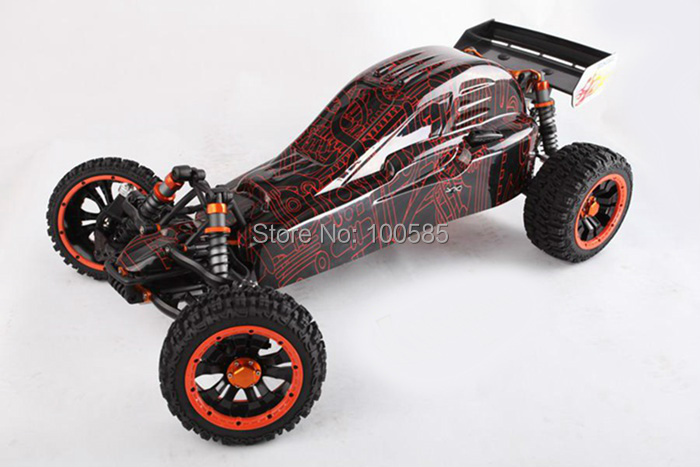 Free Shipping- 2014 1/5 scale 30.5cc 4 bolt engine RC car RC buggy with SS pipe & 2.4G RTR - Zonda(China (Mainland))