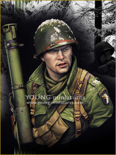 New Unassembled 1/ 10 EASY COMPANY Bastogne 1944 bust Resin Kit DIY Toys Unpainted kits(China (Mainland))