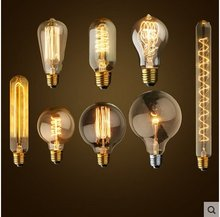 E27/110-220V/40W lamp Bulbs For Pendant Lamps Retro Incandescent Vintage Light Bulb Edison ,A19/ST64/T45/T10/T30/G80/G95/G125(China (Mainland))