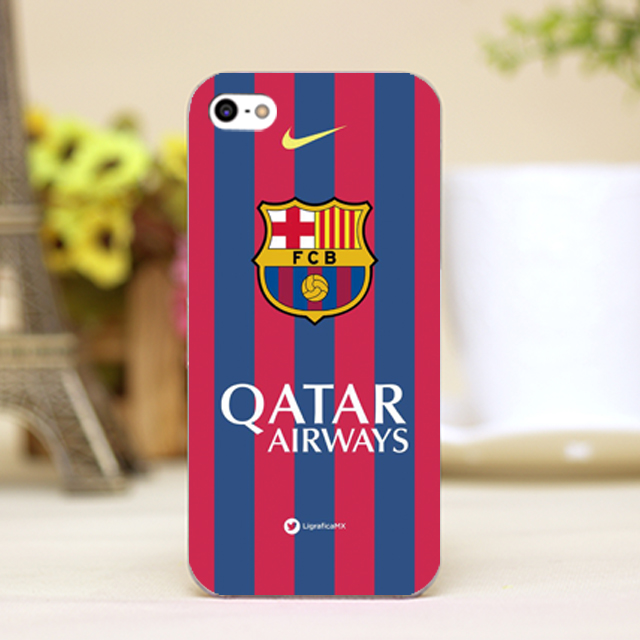 pz0102-11 For Barcelona FC beautiful logo Design phone transparent cover cases for iphone 4 5 5c 5s 6 6plus Hard Shell(China (Mainland))