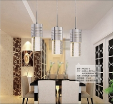 Vintage Retro Brief LED Restaurant Lights Bubble Lustre Crystal Pendant Light Bar Work Table Pendant Lamp For Dinning Room(China (Mainland))