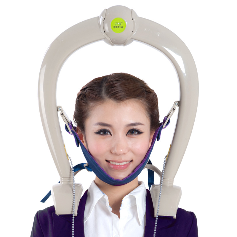 Cervical neck traction neck support brace pillow massager relax tight muscles headaches tension
