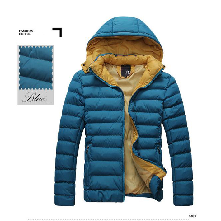 2015 New Arrival Fashion Autumn Winter Clothes Padded Men s Hooded Cotton Clothes M XXXL Casual