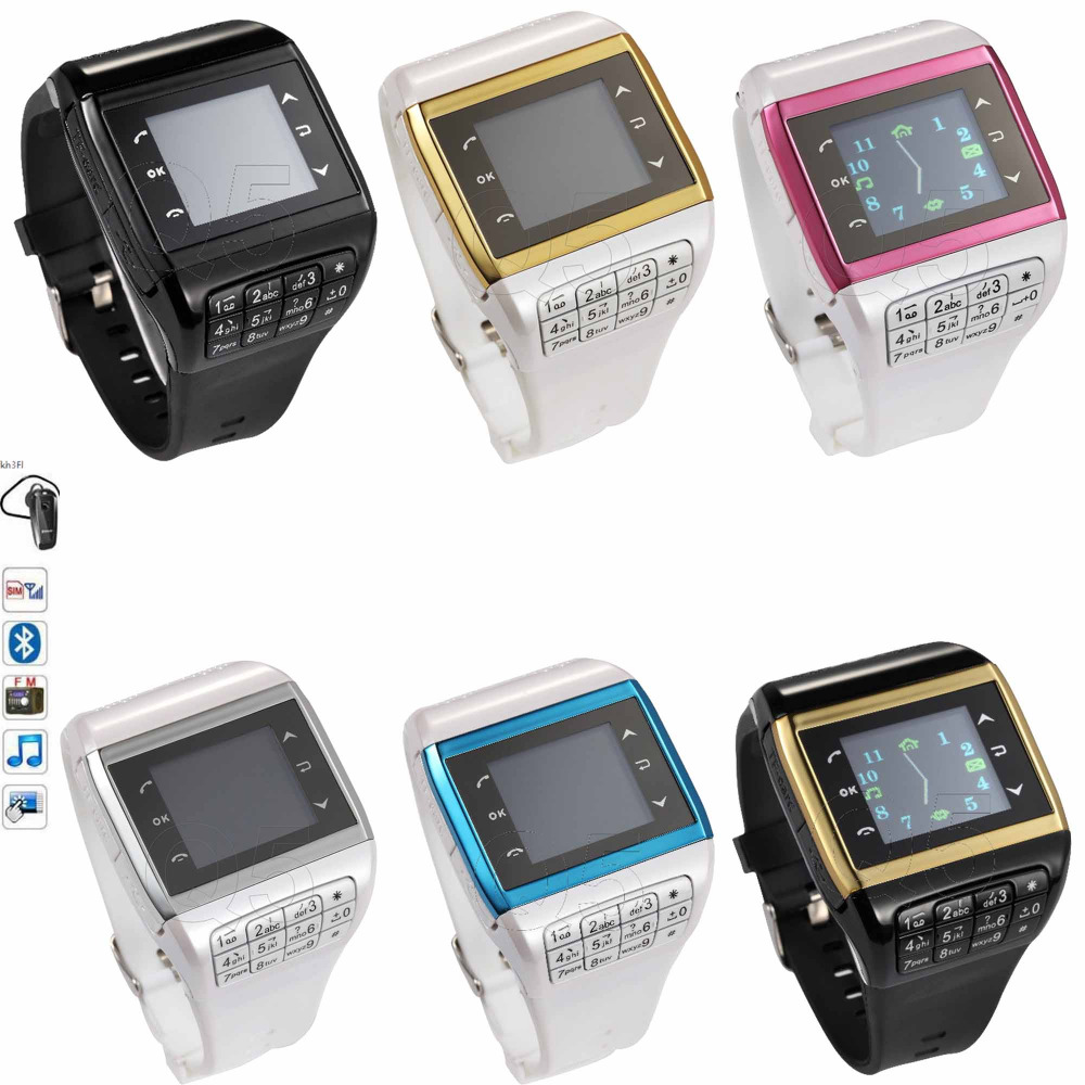 2016 Q-05 GSM Bluetooth Smart Watch Mobile Phone Quad Band with 1.33'' Touch Screen Keyboard Support SIM Card MP3 MP4 Smartwatch(China (Mainland))