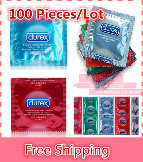 100 pcs lot Durex Condoms Sex Products Sex Durex Condoms Condones Contex Camisinha Adult Product Red