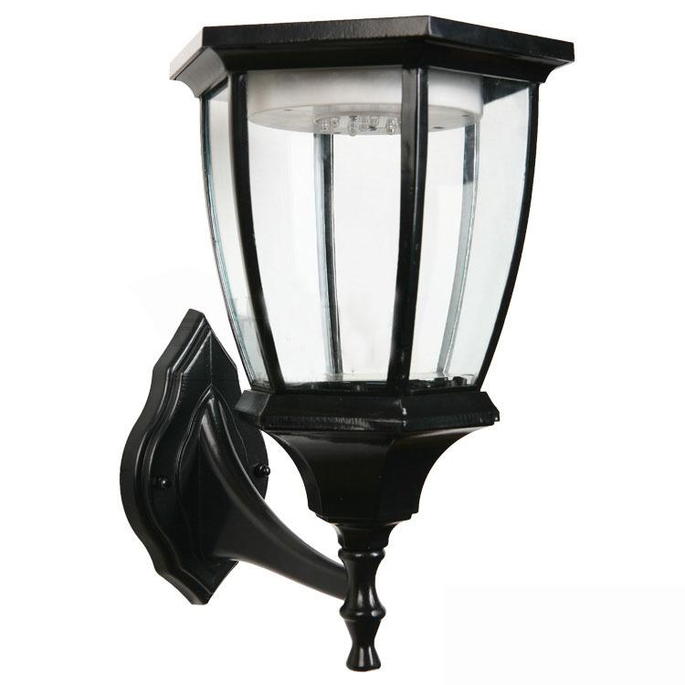 Outdoor Led Antique Solar Landscape Garden Path Light Lamp: Vintage 7 LED Solar Powered Wall Lamp Outdoor Home/Garden