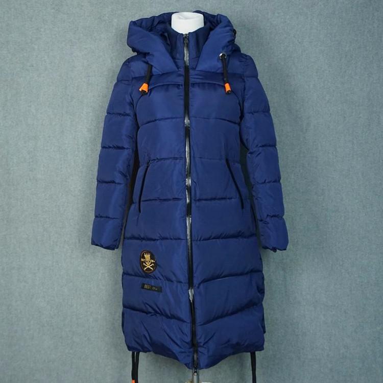 Скидки на Европа и соединенные Штаты 2016 осенью и зимой новый aliexpress продажи длинные теплый капюшоном платье хлопка пальто