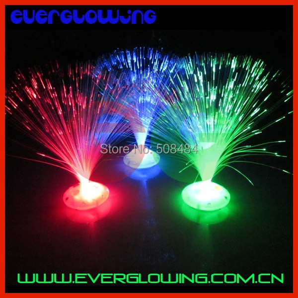 Free Shipping 12pcs/lot 8 mode LED fiber optic flower Colorful holiday optical fiber lamp small night light optical fiber flower(China (Mainland))
