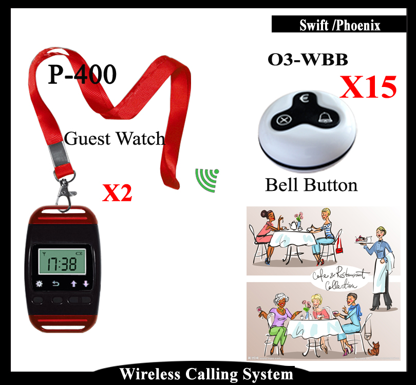 Restaurant Queue Call System With Restaurant Call Button And Pager Watch Show Service Call Number(China (Mainland))