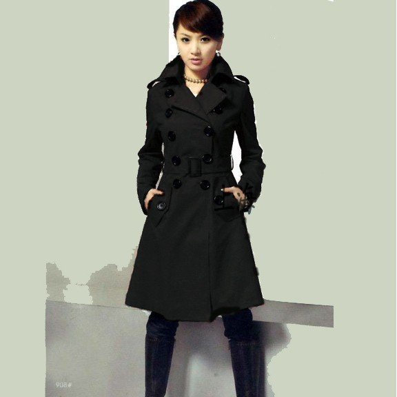 Long Black Womens Winter Coat - Black Coat