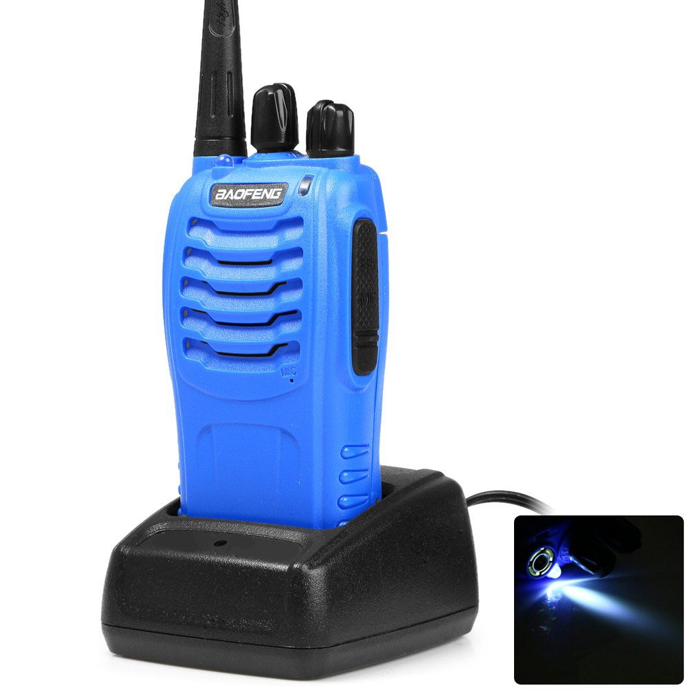 Baofeng BF-888S UHF Portable Walkie Talkie 400-480MHZ 16 Channel with LED Light(China (Mainland))