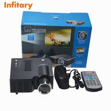 free ship hot UC28 Mini LED Digital Video Game Projectors Multimedia player Inputs AV USB SD HDMI proyector Speaker data show(China (Mainland))
