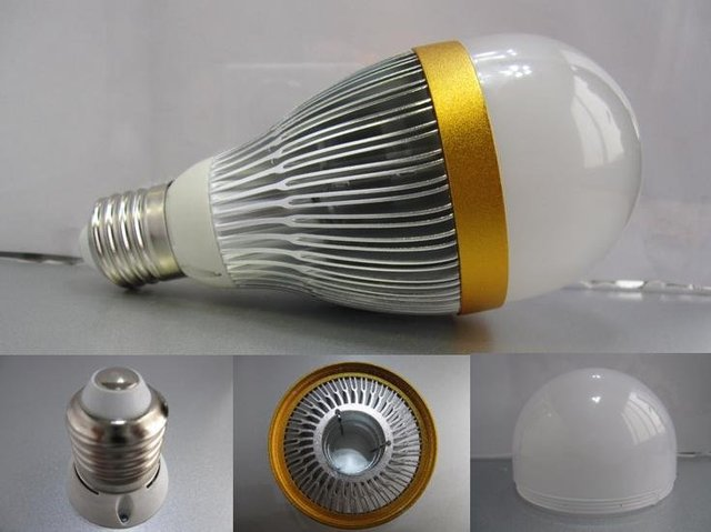 E27 base 7*1W led bulb;cool white;P/N:QP3W026