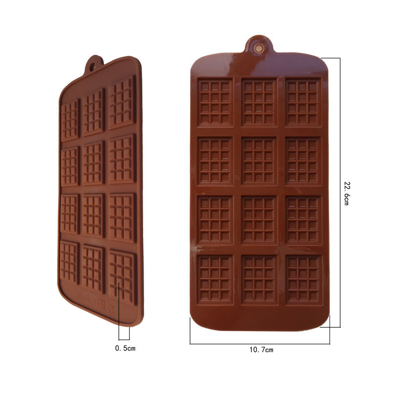 Silicone Square Chocolate Mold Jelly Ice Molds Cake Mould Bakeware 12 Even Chocolate Styling Cooking tool(China (Mainland))