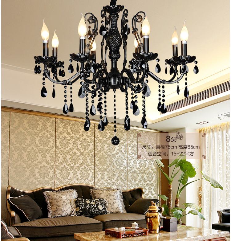 black crystal chandelier dining room bohemian crystal chandeliers