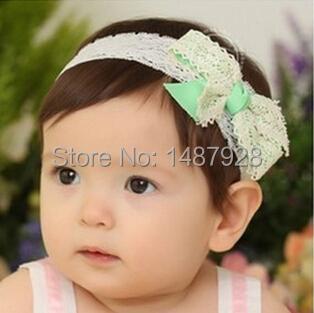 Милый бант корейский дети кружево повязка на голову младенцы головные уборы младенцы ...