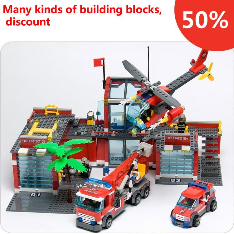 New Original Kazi City Fire Station 774pcs/set Building Blocks Educational Bricks Toys Compatible with city firefighter