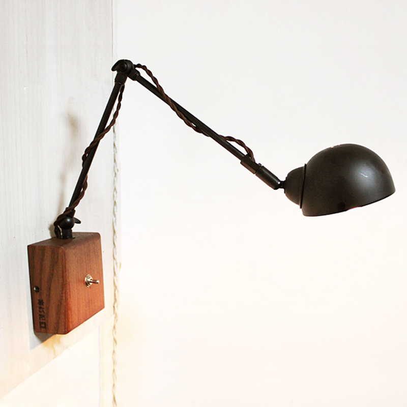 LOFT vintage wall lamp ofhead reading lamp personality lights-inWall Lamps from Lights ...