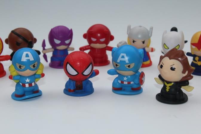 40pcs/lot cartoon figuras super hero anime toys,action figure superhero 4CM for children's gift,boys toys wholesale(China (Mainland))