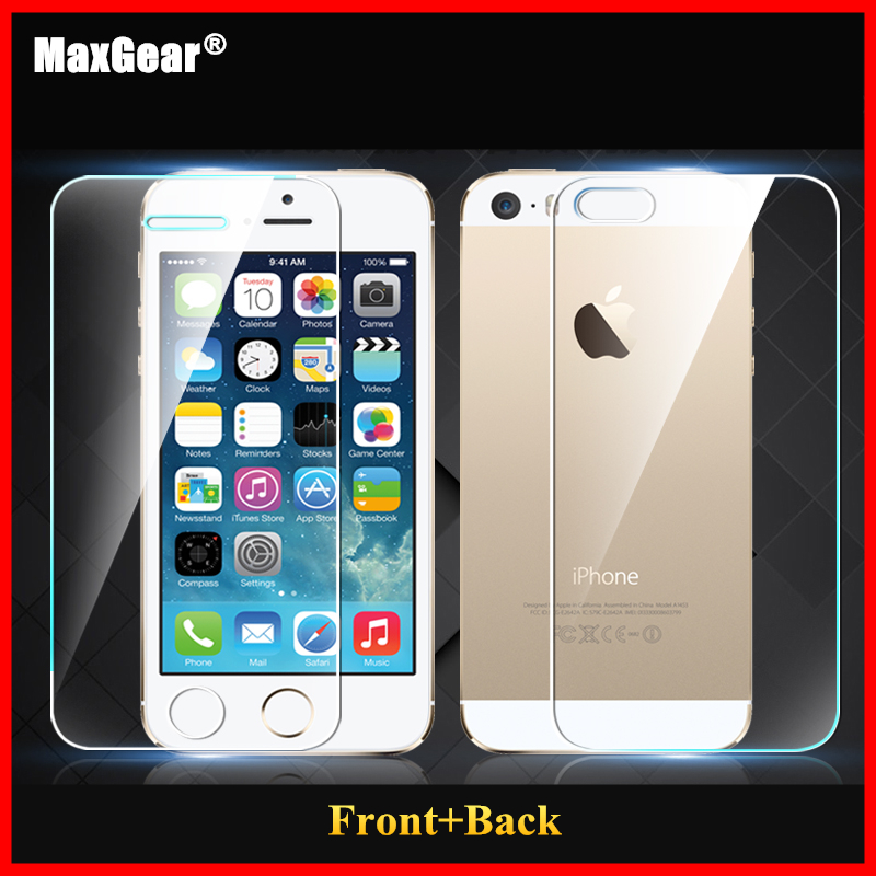 0.3mm 9H Front + Back Tempered Glass iPhone 5 5S Screen Protector Anti Shatter Film 2014 New Free Shiping - Aplus Technology Co.,Ltd store