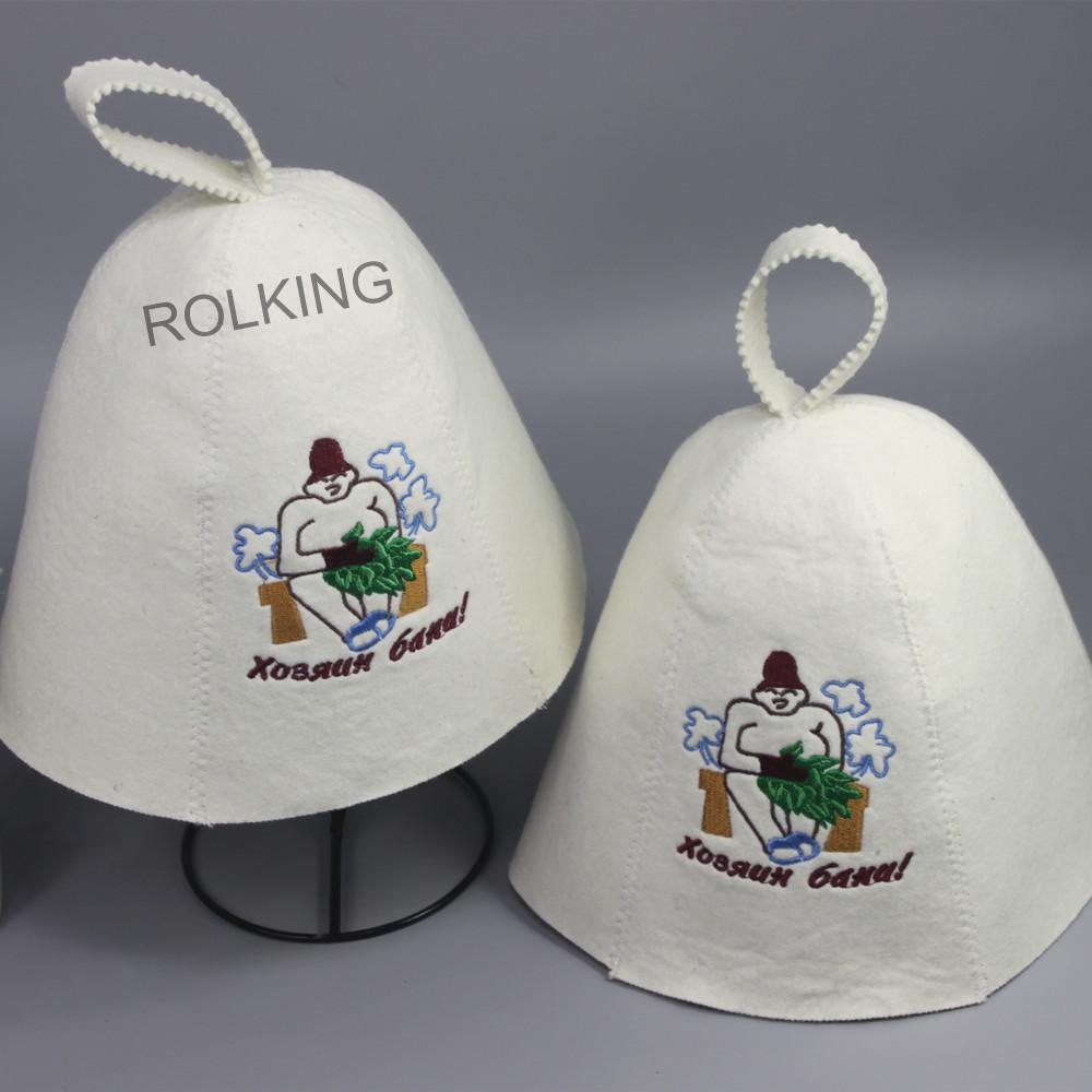 Banya wool sauna hat(2PCS/packing),Shower Caps Waterproof Women Sauna Spa Hat Hair Bath Double Layer Cap Lady's Pastoral(China (Mainland))